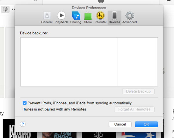 device backups